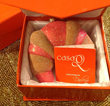 CasaQ's Pan Dulce Cuerno glass ornament