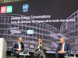 The panel at the meeting on sustainable energy in Geneva