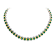 David Mor Emerald and Yellow Diamond Necklace