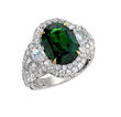 David Mor Oval Tsavorite Ring