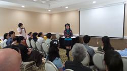 """Relations Expert Hellen Chen during her recent """"Love Seminar"""" in Los Angeles"""
