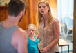 Heather Robb as Maggie, confronts Sean while Lilly watches in 'Paradise, FL'
