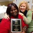 Michelle Harris - Awarded The Going Above and Beyond award with Easter Seals transitions instructor Jennifer Sublett.