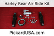 Harley Air Ride Suspension Kit Rear System For Custom Baggers By Pickard USA