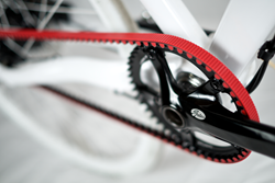 Carbon Drive Red Belt for bicycles