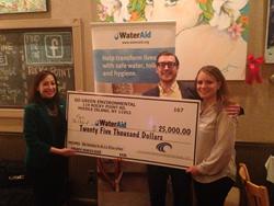 Go Green Environmental Services LLC donates $25,000 to WaterAid.