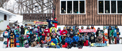 Group shot at Sunburst Ski Resort of all the campers and coaches.