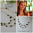 Cascading Black Spinel and Gold Filled Chain Necklace from Nature's Splendour,