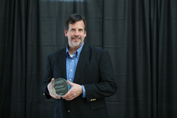 Mike Fahrion accepting IDTechEx Award