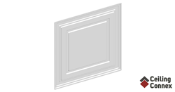 CeilingConnex Mission Ceiling Tile available in white and black