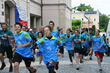 In the spirit of the 2014 Drug-Free Czech Cyclorun, youth in the city of Pardubic join Cyclorun volunteers in a run through the center of their city.