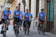 Volunteer Vlastimil Spalek (second from left) launched the annual Drug-Free Czech Cyclorun to educate youth on the danger of drugs and inspire them to live drug-free lives.