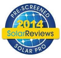 Pre-Screened Solar Pros badge