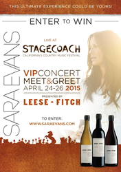 Leese-Fitch Wines has partnered with Country Music Star Sara Evans