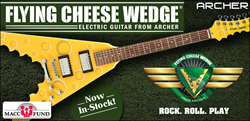 Archer Flyer Cheese Wedge Electric Guitar available at Cascio Interstate Music