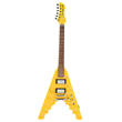 Archer Flyer Cheese Wedge Electric Guitar, front view