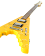 Archer Flyer Cheese Wedge Electric Guitar, angle view