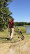 Swing plane and ball trajectory