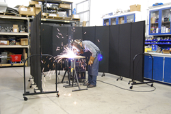 Screenflex begins production on state of the art portable welding screen.