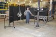Screenflex Portable Welding Screen forms a continuous barrier of protection for both the welder and other employees.