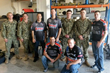 Summit Racing and Team Harley-Davidson Racers Visiting Troops During Operation Appreciation 2014