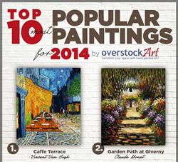 overstockArt.com Releases Top 10 Most Popular Art for 2014