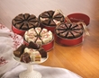 The Swiss Colony has many shapes of Petits Fours for Christmas