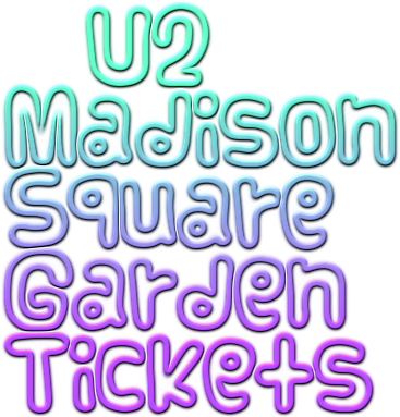 U2 tickets madison square garden msg ticket down slashes ticket prices for u2 concerts at for Madison square garden event schedule