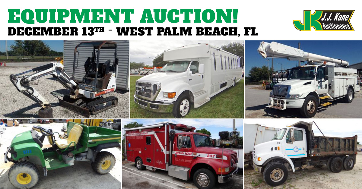 Used Cars West Palm Beach >> Public Auto and Equipment Auction, West Palm Beach, FL, December 13, 2014