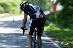 Rider Brad Cobb climbs grueling Burkhalter Gap.