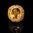Diamond, Yellow Sapphire and Citrine 18k Yellow Gold Ring