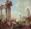 Panini landscape with famous Roman Grand Tour landmarks