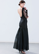 """Lady In Lace"" Black Mermaid Maxi Dress"