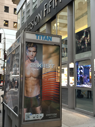 From the 1st to the 21st of December, millions of passers by will be able to browse and purchase the latest 2(X)IST underwear ranges by using their phone to scan tags across key locations in  New York.