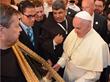 Pope Francis in Bethlehem with Fr. Peter Vasko, ofm, FFHL President