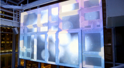 Wall 3D video projection mapping