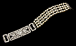 Exceptional Deco Diamond and Pearl Bracelet