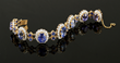 Exceptional 14K Gold, Sapphire and Diamond Bracelet