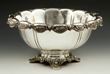 19th C. Tiffany Makers Chrysanthemum Center Bowl, Sterling Silver