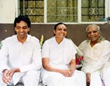 From left: Prashant Iyengar, Geeta Iyengar, and B. K. S. Iyengar.