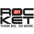 Rocket21 Logo. Think Big. Do More.