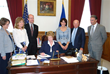 Inspired by Dr. Cappello's advanced stage diagnosis, Governor Jodi Rell, Connecticut, signs the First State Density Reporting Law in Connecticut in 2009