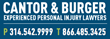 Cantor & Burger, LLC Featured in Missouri Lawyer's Weekly for Personal Injury Settlement