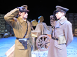 Officers meet in Nomansland in SOLDIER'S CHRISTMAS by Phil Paradis. Carter Bratton as Lt. Taylor with Robert Macke as Lt. Friedrich. Photo by Fred Anderson