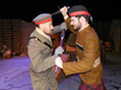 Soldiers fighting in Nomansland in SOLDIER'S CHRISTMAS by Phil Paradis. Photo by Fred Anderson