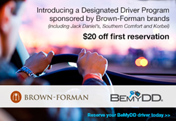 Bemydd launches designated driver program in joint promotion with brown forman for Designated driver service business plan