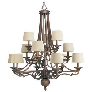 Progress Lighting P4569 Transitional Thomasville 12 Light Up Lighting  Chandelier From The Meeting Street Collection ...