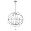 Ode Silver Chandelier 9228-OS from the New Solaris Collection by Crystorama