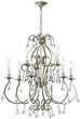 Crystorama 5019-OS-CL-MWP - majestic wood polished crystal chandelier