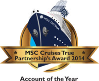 American Discount Cruises & Travel was named a Partner of the Year by MSC Cruises